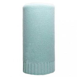 Bambusová pletená deka NEW BABY 100x80 cm mätová zelená