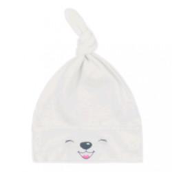 Bavlnená dojčenská čiapočka Bobas Fashion Lucky krémová béžová