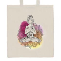 Bavlnená nákupná taška prírodná s potlačou New Baby Mandala