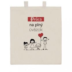 Bavlnená nákupná taška prírodná s potlačou New Baby Práca na plný úväzok