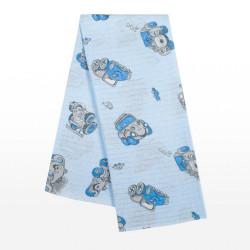 Bavlnená plienka s potlačou New Baby modrá s autíčkami