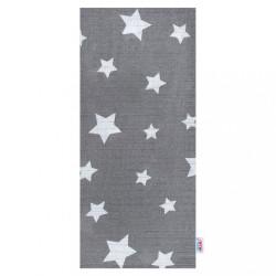 Bavlnená plienka s potlačou New Baby sivá hviezdičky
