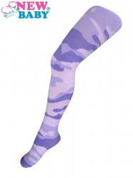 Bavlnené pančucháčky New Baby s maskáčovým vzorom svetlo ružovo-fialové béžová