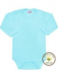 BIO body s dlhým rukávom New Baby modré