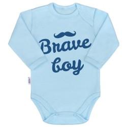 Body s potlačou New Baby Brave boy modré