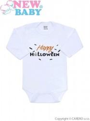 Body s potlačou New Baby Happy Halloween oranžová