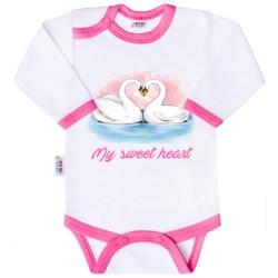 Body s potlačou New Baby My sweet heart ružová