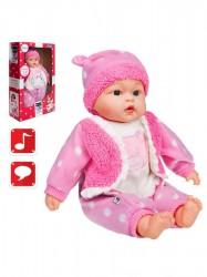 Česky hovoriaca a spievajúca detská bábika PlayTo Anička 46 cm ružová