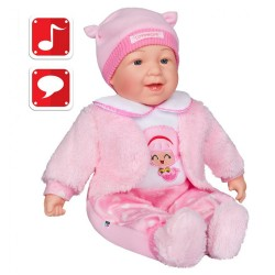 Česky hovoriaca a spievajúca detská bábika PlayTo Nelinka 46 cm ružová