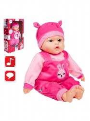 Česky hovoriaca a spievajúca detská bábika PlayTo Terezka 46 cm ružová