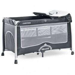 Cestovná postieľka CARETERO Deluxe graphite sivá