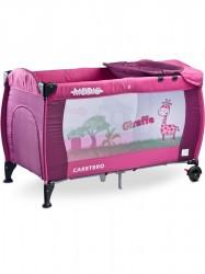 Cestovná postieľka CARETERO Medio purple ružová #1