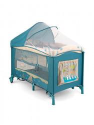 Cestovná postieľka Milly Mally Mirage Deluxe blue bird modrá