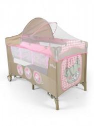 Cestovná postieľka Milly Mally Mirage Deluxe pink toys ružová