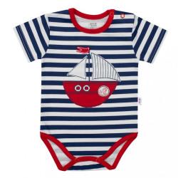 Chlapčenské body s krátkym rukávom New Baby Marine modrá
