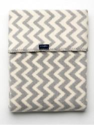 Detská bavlnená deka so vzorom Cik-Cak Womar 75x100 sivo-biela podľa obrázku
