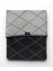 Detská bavlnená deka so vzorom Womar 75x100 grafitovo-sivá