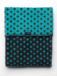 Detská bavlnená deka so vzorom Womar 75x100 grafitovo-tyrkysová podľa obrázku