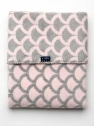 Detská bavlnená deka so vzorom Womar 75x100 ružovo-sivá podľa obrázku
