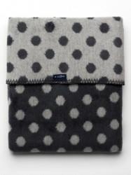 Detská bavlnená deka  Womar Bodky 75x100 grafitovo-sivá podľa obrázku