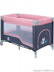 Detská cestovná postieľka Baby Mix dark pink ružová
