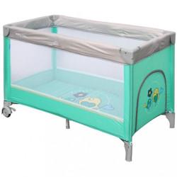 Detská cestovná postieľka Baby Mix Mint zelená