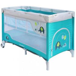 Detská cestovná postieľka Baby Mix Slony Blue modrá