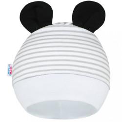 Detská čiapočka New Baby Panda sivá