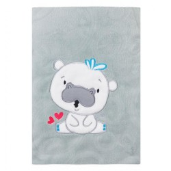 Detská deka Koala Animals sivá