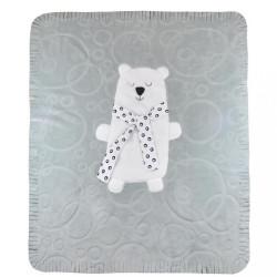 Detská deka Koala Polar Bear sivá