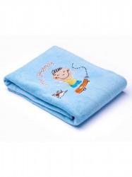 Detská deka Sensillo Deti 75x100 cm blue modrá