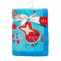 Detská deka z mikrovlákna modrá