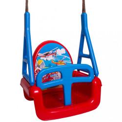 Detská hojdačka 3v1 car Swing red Červená