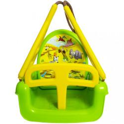 Detská hojdačka 3v1 safari Swing green zelená #1