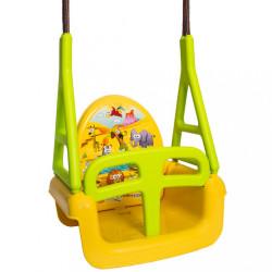 Detská hojdačka 3v1 safari Swing yellow Žltá