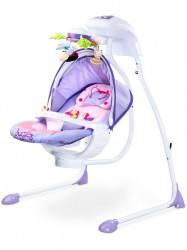 Detská hojdačka CARETERO Bugies purple fialová