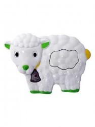 Detská hračka so zvukom Baby Mix ovečka biela