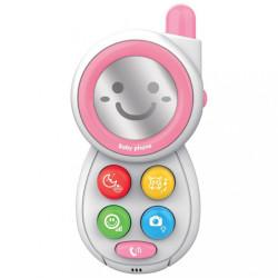 Detská hračka so zvukom Baby Mix Telefónik pink ružová