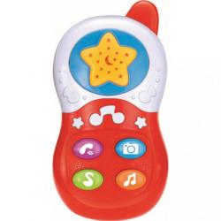 Detská hračka so zvukom Baby Mix Telefónik red Červená