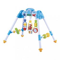 Detská hrajúca edukačná hrazdička De Lux Baby Mix blue modrá