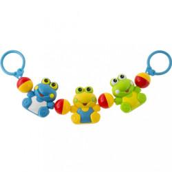 Detská hrkálka do kočíka Akuku žabka multicolor