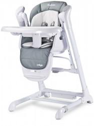 Detská jedálenská stolička 2v1 Caretero Indigo grey sivá