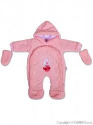 Detská kombinéza New Baby ježko ružová