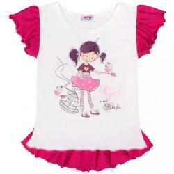 a3405e02ddbc Dievčenské rifľové šaty s motýlikom a ružovou sukňou. 13.50€. Detská letná  tunika New Baby Girl biela