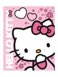 Detská obojstranná auto deka Hello Kitty 120x150 cm ružová