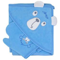 Detská osuška s žinkou Koala Yogi blue modrá
