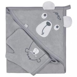 Detská osuška s žinkou Koala Yogi grey sivá