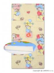 Detská penová matrac žltá - rôzne obrázky