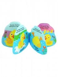 Detská pískacia knižka do vody Baby Mix kačička podľa obrázku