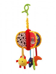 Detská plyšová hračka Baby Mix kolotoč Žltá